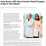 Award Winning Specialist Plastic Surgeon Amy Simon, MD Joins Premier Plastic Surgery & Spa in Vero Beach